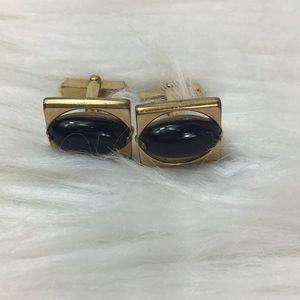 """Swank, gold-filled, 5/8"""" cufflinks, vintage, GUC."""